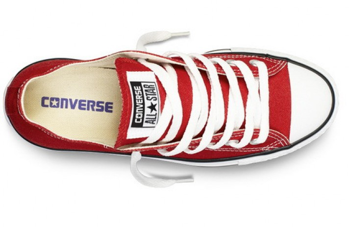 Converse All Star Low CHUCK TAYLOR Red White красные, фото 3