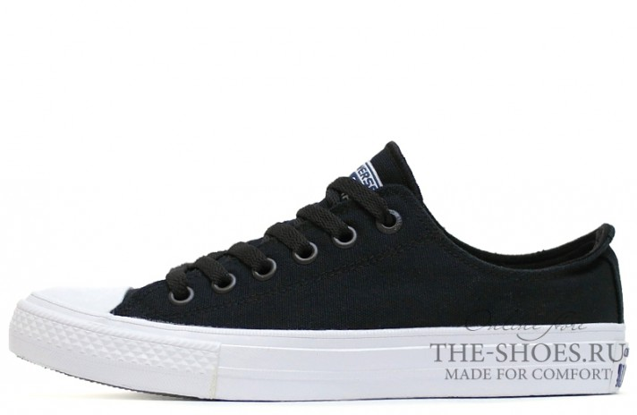 Converse All Star 2 Lunarlon Low CHUCK TAYLOR Black White черные
