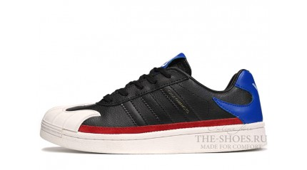 Superstar КРОССОВКИ МУЖСКИЕ<br/> ADIDAS Y-3 SUPERSTAR BLACK WHITE BLUE