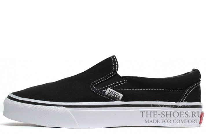 Vans Slip-on Black White черные