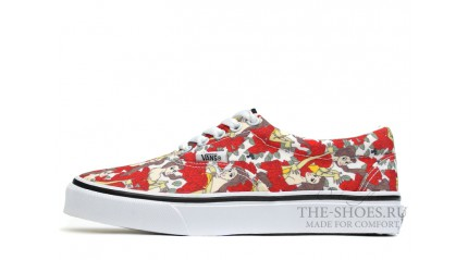 Vans Era Low Beauty and Beast Red White