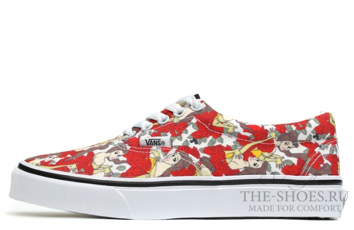 Vans Era Low Beauty and Beast Red White красные