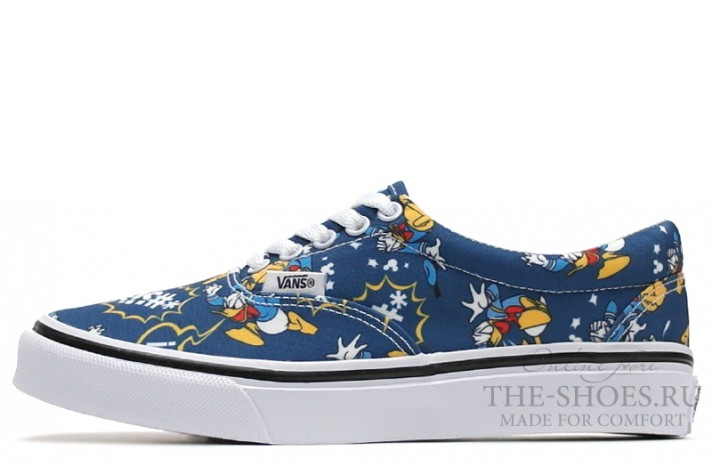 Vans Era Low Donald Duck Blue White синие