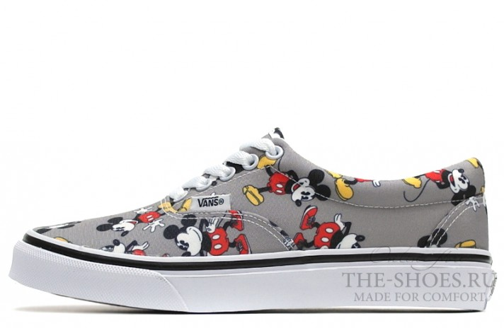 Vans Era Low Mickey Mouse Gray White серые