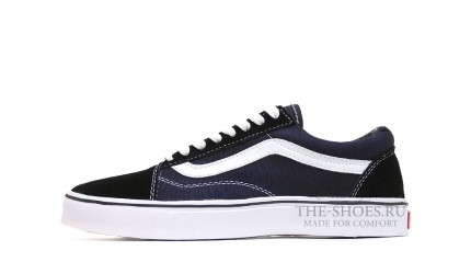 Vans КЕДЫ МУЖСКИЕ<br/> VANS OLD SKOOL BLACK SUEDE BLUE WHITE