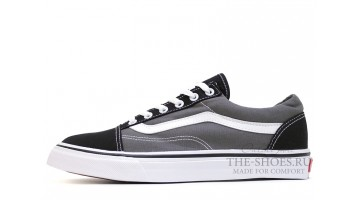 Кеды Мужские Vans Old Skool Black Suede Gray White