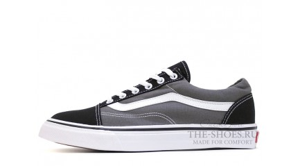 Vans КЕДЫ МУЖСКИЕ<br/> VANS OLD SKOOL BLACK SUEDE GRAY WHITE