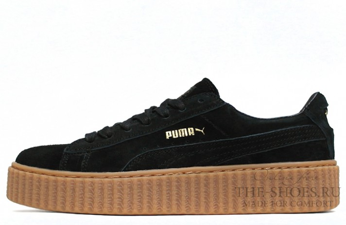 Puma Creeper by Rihanna Black Begie черные, фото 1