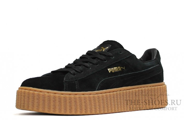 Puma Creeper by Rihanna Black Begie черные, фото 2