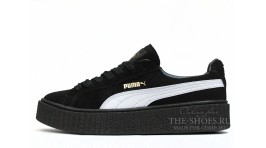 Puma Creeper by Rihanna Black White черные