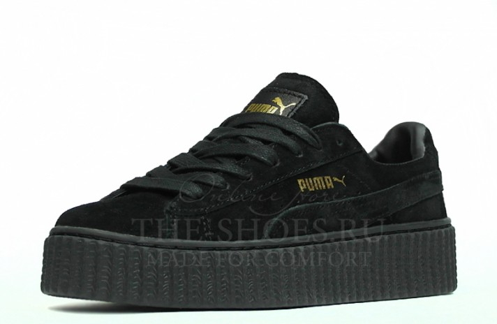Puma Creeper by Rihanna Black черные, фото 4