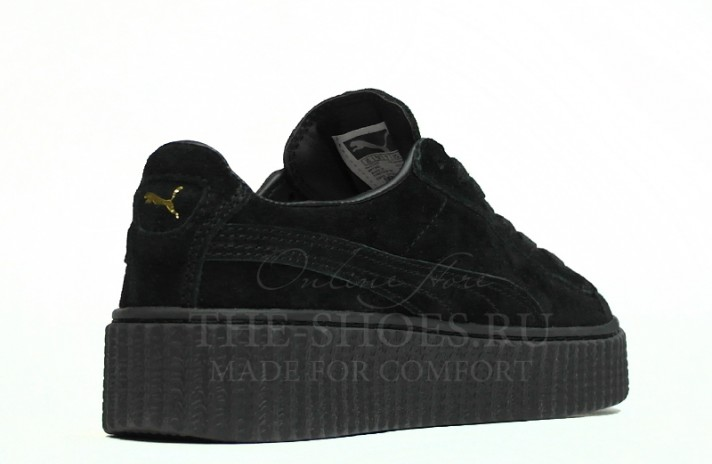 Puma Creeper by Rihanna Black черные, фото 3