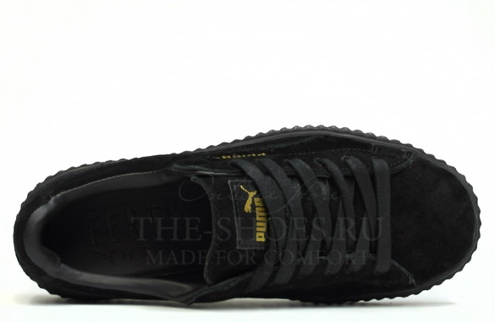Puma Creeper by Rihanna Black черные, фото 2