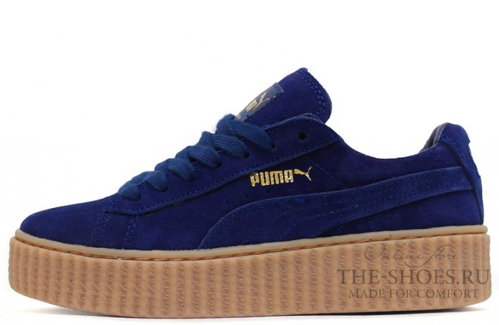 Puma Creeper by Rihanna Bright Blue темно-синие, фото 1