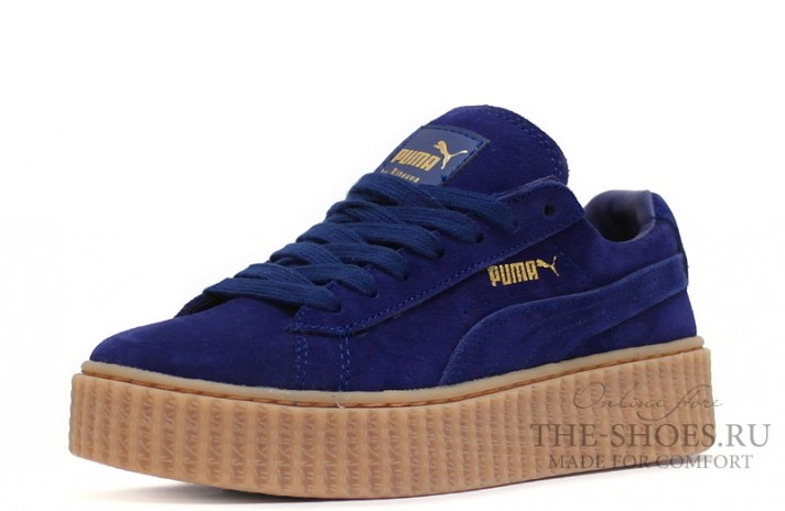 Puma Creeper by Rihanna Bright Blue темно-синие, фото 2