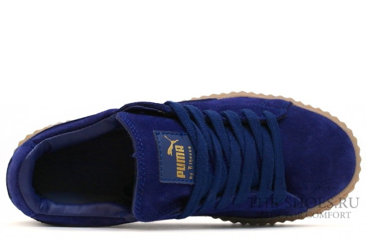 Puma Creeper by Rihanna Bright Blue темно-синие, фото 4