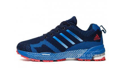 Adidas Flyknit Marathon Double Blue Red