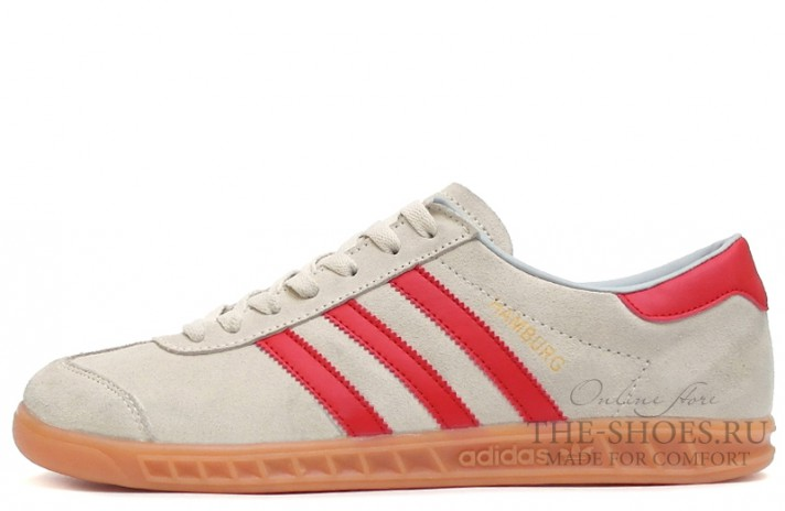 Adidas Hamburg Wolf Grey Red серые