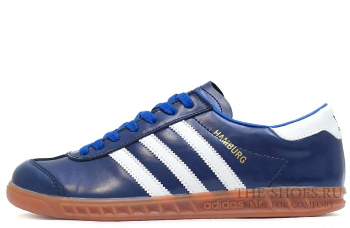 Кроссовки Adidas Hamburg Leather Blue White