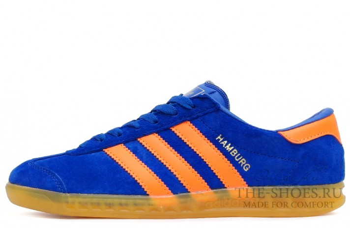 Adidas Hamburg Blue Orange Glassy синие