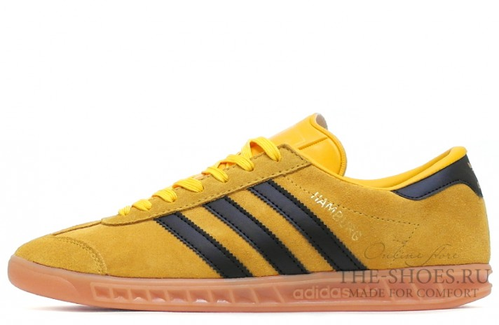 Adidas Hamburg Mustard Yellow Black желтые