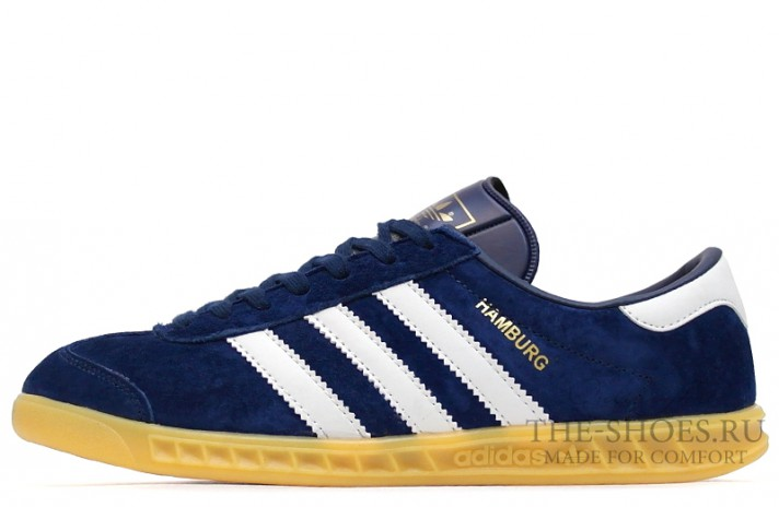 Adidas Hamburg Blue Navy White темно-синие, фото 1