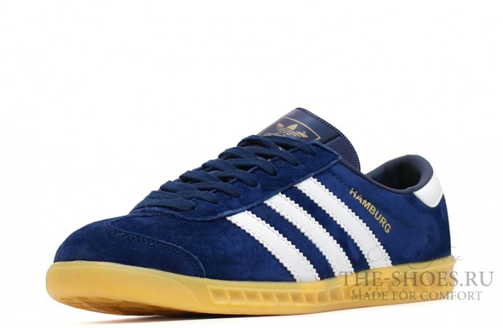 Adidas Hamburg Blue Navy White темно-синие, фото 5