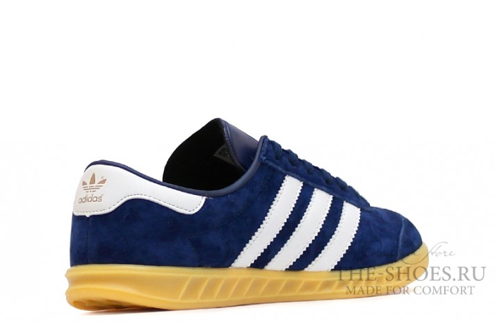 Adidas Hamburg Blue Navy White темно-синие, фото 4