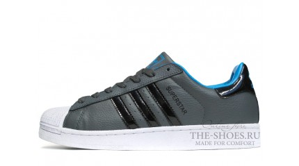 Superstar КРОССОВКИ МУЖСКИЕ<br/> ADIDAS SUPERSTAR GREY WHITE BLACK