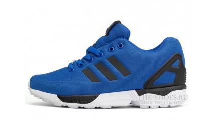 ZX КРОССОВКИ МУЖСКИЕ<br/> ADIDAS ZX FLUX BLUE BLACK WHITE
