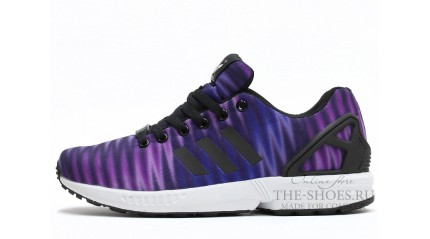 ZX КРОССОВКИ МУЖСКИЕ<br/> ADIDAS ZX FLUX PURPLE LILAC WHITE