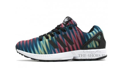 ZX КРОССОВКИ МУЖСКИЕ<br/> ADIDAS ZX FLUX MULTICOLOR BLACK WHITE