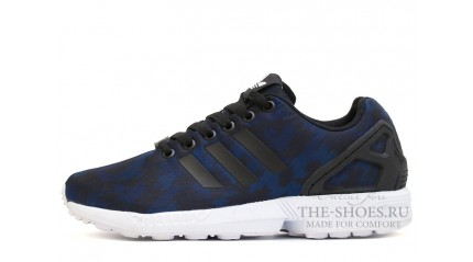 Adidas ZX Flux Blue Navy Camo