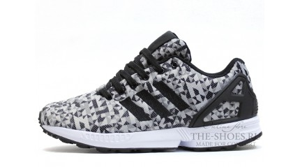 ZX КРОССОВКИ МУЖСКИЕ<br/> ADIDAS ZX FLUX WEAVE GRAY BLACK WHITE