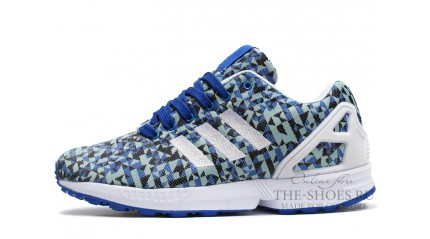 ZX КРОССОВКИ МУЖСКИЕ<br/> ADIDAS ZX FLUX WEAVE BLUE WHITE
