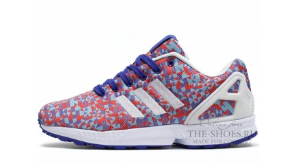 ZX КРОССОВКИ МУЖСКИЕ<br/> ADIDAS ZX FLUX WEAVE RED BLUE WHITE