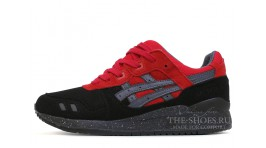 Asics Gel Lyte 3 Bad Santa Christmas Red Black черные красные