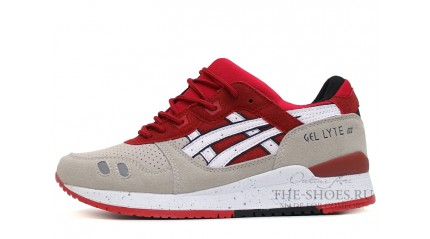 Gel Lyte 3 КРОССОВКИ МУЖСКИЕ<br/> ASICS GEL LYTE 3 GREY RED WHITE