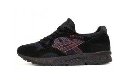 Asics GEL LYTE 5 Black Suede Blood Speck черные замшевые