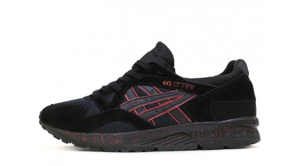 Asics GEL LYTE 5 Black Suede Blood Speck