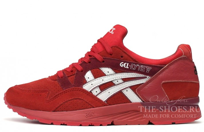 Asics GEL LYTE 5 Bright Red White красные