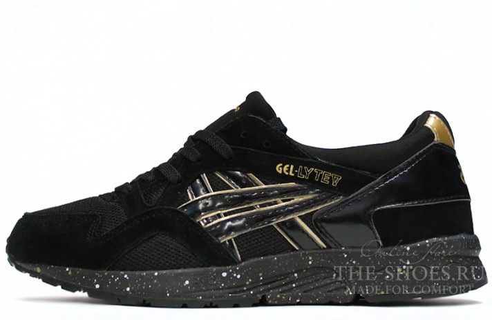 Asics Gel LYTE 5 Atmos Black Gold черные, фото 1