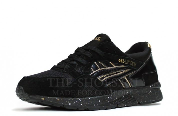Asics Gel LYTE 5 Atmos Black Gold черные, фото 2