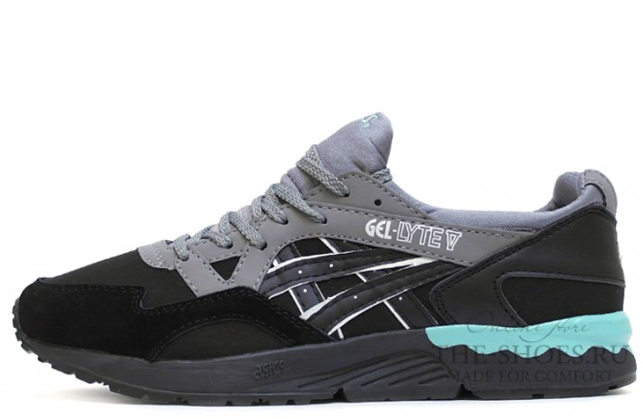 Asics Gel LYTE 5 Black Grey черные серые