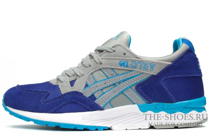 Кроссовки Asics Gel LYTE 5 Twin Blue Grey White