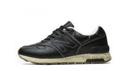 New Balance 1400 Leather Black Cream White черные кожаные