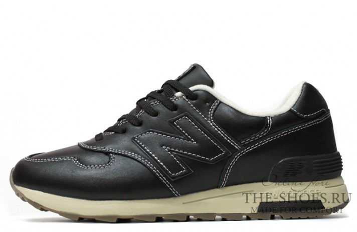 New Balance 1400 Leather Black Cream White черные кожаные, фото 1