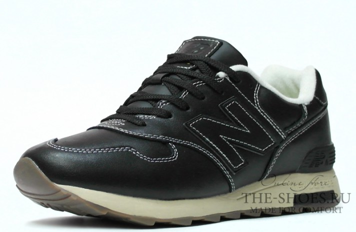 New Balance 1400 Leather Black Cream White черные кожаные, фото 2