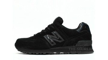 Кроссовки Мужские New Balance 574 All Black Suede Classic