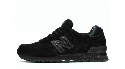 574 КРОССОВКИ МУЖСКИЕ<br/> NEW BALANCE 574 CLASSIC ALL BLACK SUEDE
